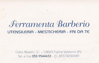 FERRAMENTA BARBERIO  PAINT SHOP STORE